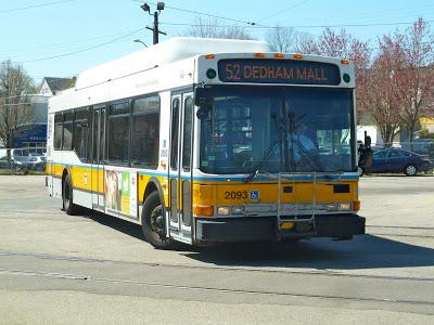 52 (Dedham Mall or Charles River Loop – Watertown Yard via Oak Hill and Newton Center)