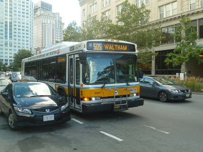 505 (EXPRESS BUS Central Square, Waltham – Downtown via Moody Street and Mass Turnpike)