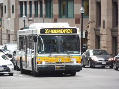 354 (Woburn Express – Boston via Woburn Square and I-93)