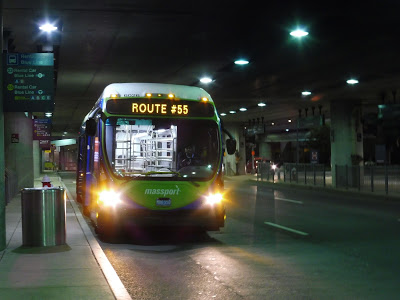 Logan Airport Shuttle: 55 (Serves All Terminals to subway station and to Rental Car Center)