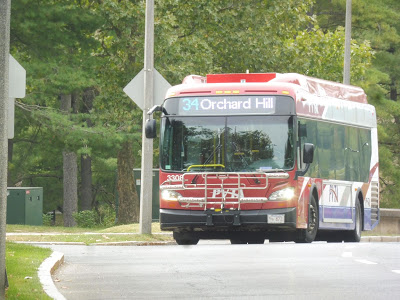 PVTA: 34 (Campus Shuttle/Northbound) and 35 (Campus Shuttle/Southbound)